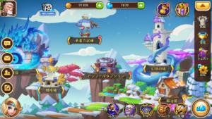 Idle Heroes(アイドルヒーローズ)アシブールダンジョン_ メイン画面