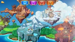 Idle Heroes(アイドルヒーローズ)遺失の氷原_戦役地図